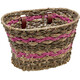 Electra Woven Palm Frond Bike Basket pink/brown